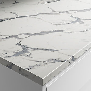 Wickes Marble Veneto Laminate Bathroom Worktop - 2m x 337mm x 28mm