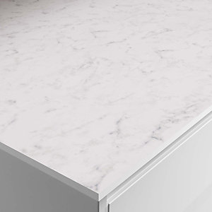 Wickes Marmo Bianco Zenith Bathroom Worktop - 2m x 337mm x 13mm