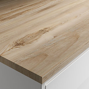 Wickes Mississippi Pine Laminate Bathroom Worktop - 2m x 337mm x 28mm