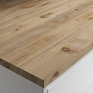 Wickes Mystic Pine Laminate Bathroom Worktop - 2m x 337mm x 28mm