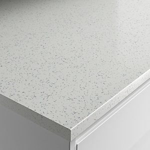 Wickes Strass Blanc Laminate Bathroom Worktop - 2m x 337mm x 28mm