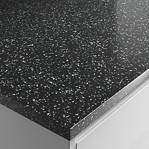 Wickes Strass Noir Laminate Bathroom Worktop - 2m x 337mm x 28mm
