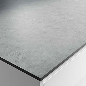 Wickes Woodstone Grey Zenith Bathroom worktop - 2m x 337mm x 13mm