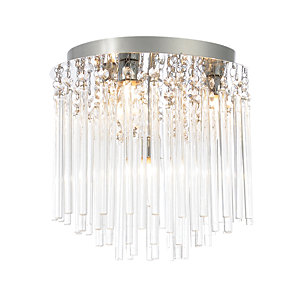 Spa Ursa Chrome Quad Bathroom Flush Ceiling Light - 112W