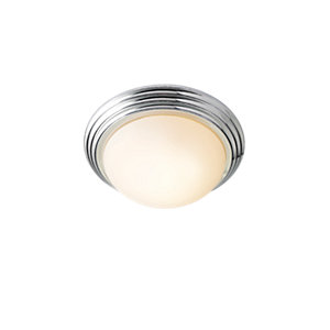 Wickes Marcello Brushed Chrome Flush Bathroom Ceiling Light - 11W