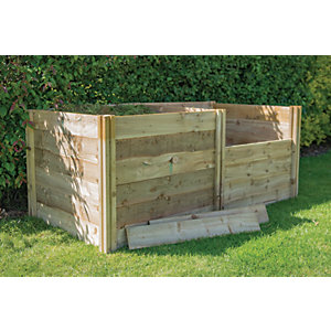 Forest Garden 3 x 3ft Slot Down Wooden Compost Bin Extension Kit