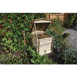 Rowlinson 2 x 2ft Beehive Timber Garden Compost Bin