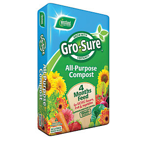 Gro-Sure All Purpose Compost & 4 Month Feed - 50L
