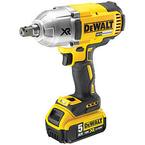 DEWALT DCF899P2-GB 18V XR 2 x 5.0Ah Cordless Brushless High Torque Impact Wrench