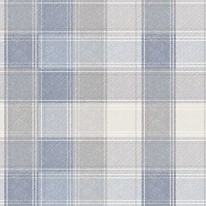 Arthouse Country Check Denim Wallpaper 10.05m x 53cm