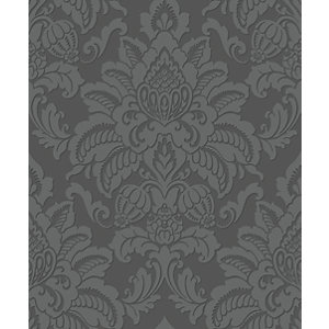 Arthouse Glisten Gunmetal Wallpaper 10.05m x 53cm