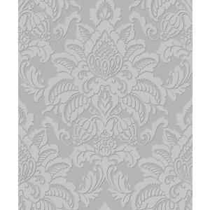 Arthouse Glisten Silver Wallpaper 10.05m x 53cm