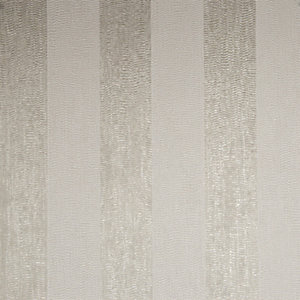 Boutique Water Silk Stripe Ivory/Taupe Decorative Wallpaper - 10m