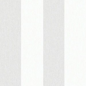 Superfresco Easy Calico Grey Stripe Decorative Wallpaper - 10m