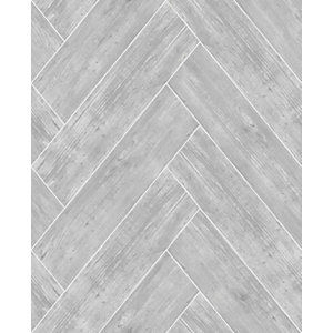 Superfresco Easy Herringbone Wood Dark Grey Decorative Wallpaper - 10m