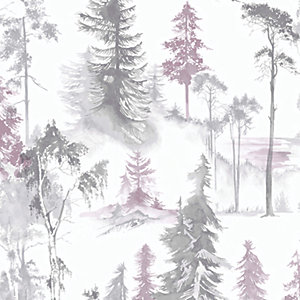 Superfresco Easy Lilac Mystical Forest Wallpaper - 10m