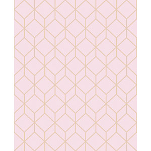 Superfresco Easy Myrtle Geo Blush/Rose Gold Decorative Wallpaper - 10m