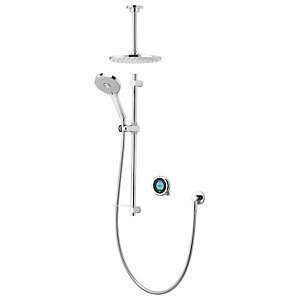 Aqualisa Optic Q  Smart Divert Concealed Gravity Pumped Shower with Adjustable and Fixed Ceiling Heads