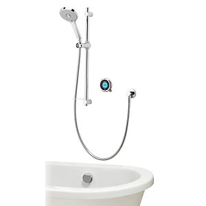 Aqualisa Optic Q  Smart Divert Concealed High Pressure Shower with Bath Filler and Adjustable Head