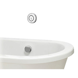 Aqualisa Unity Q Gravity Pumped Smart Bath Mixer with overflow filler