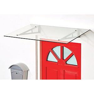 Superroof Rebecca Door Canopy Silver 1200  x 690mm