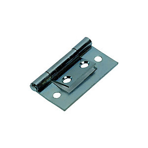 Wickes Flush Hinge - Zinc 38mm Pack of 2