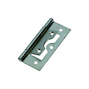 Wickes Flush Hinge - Zinc 63mm Pack of 2