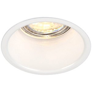 Saxby GU10 Anti-Glare Dimmable Downlight - Gloss White