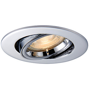 Saxby GU10 Cast Adjustable Downlight - Chrome Effect