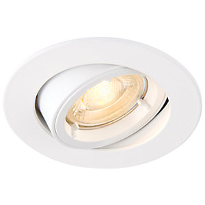Saxby GU10 Cast Adjustable Downlight - Matt White