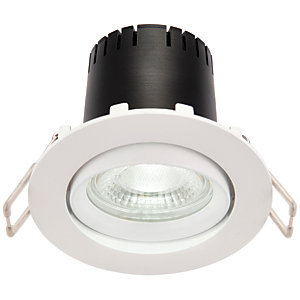 Saxby Integrated LED Adjustable Cool White Dimmable Downlight 5.5W - Matt White
