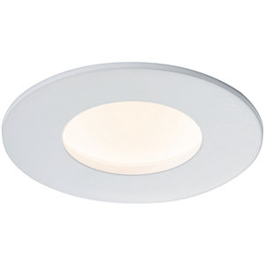 Saxby Orbital SMART Anti-Glare IP65 Dimmable Downlight CCT 9W - Matt White