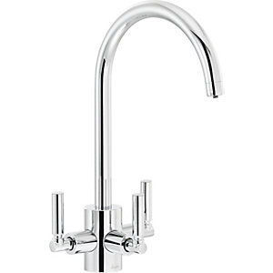 Abode Orcus Aquifier Dual Lever Filter Sink Tap - Chrome