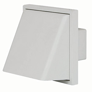 Manrose PVC External Cowled Vent - White 101.6mm