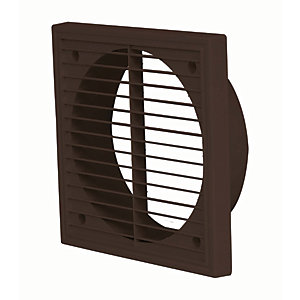 Manrose PVC External Wall Grille - Brown 150mm