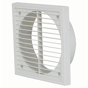 Manrose PVC External Wall Grille - White 150mm