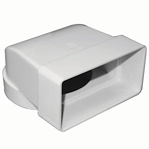 Manrose PVC White Elbow Connector 90 Degree - 110 x 54mm