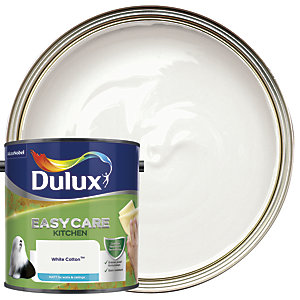 Dulux Easycare Kitchen - White Cotton - Matt Emulsion Paint 2.5L