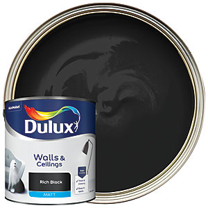 Dulux - Rich Black - Matt Emulsion Paint 2.5L