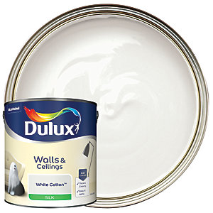 Dulux - White Cotton - Silk Emulsion Paint 2.5L
