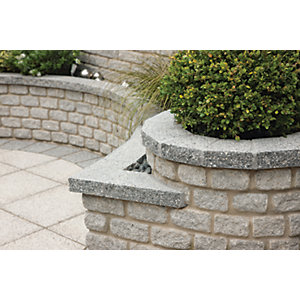 Marshalls Argent Coarse Coping Stone - Light 600 x 272 x 50mm