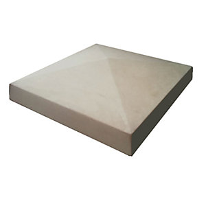 Marshalls Cast Smooth Pillar Cap Stone - Grey 380 x 380 x 50mm