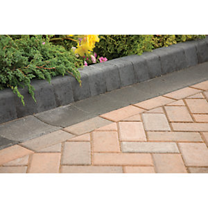 Marshalls Keykerb Half Battered Radial - Charcoal 100 x 127 x 200mm