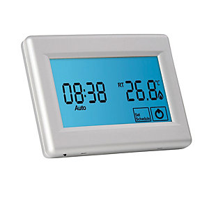 Prowarm Protouch Programmable Touchscreen Digital Room Thermostat - Silver