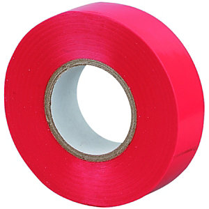 Wickes Electrical Insulation Tape - Red 20m Pack of 10