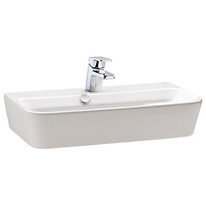 Wickes Emma 1 Tap Hole Wall Hung Square Bathroom Basin - 500mm