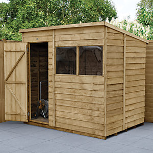 Forest Garden 7 x 5 ft Pent Overlap Pressure Treated Potting Shed