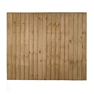 Forest Garden Pressure Treated Featheredge Fence Panel - 6 X 5ft Multi Packs