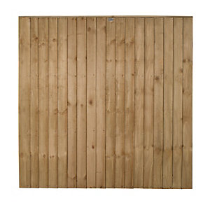Forest Garden Pressure Treated Featheredge Fence Panel - 6 X 6ft Multi Packs