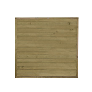 Forest Garden Tongue & Groove Horizontal Fence Panel - 6 x 6ft Multi Packs
